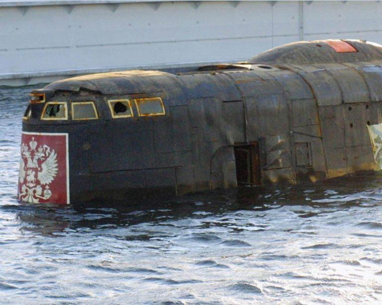 глубина затонувшей подводной лодки курск